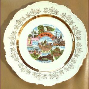 4/$15👀Vintage Collectors plate Quebec Canada